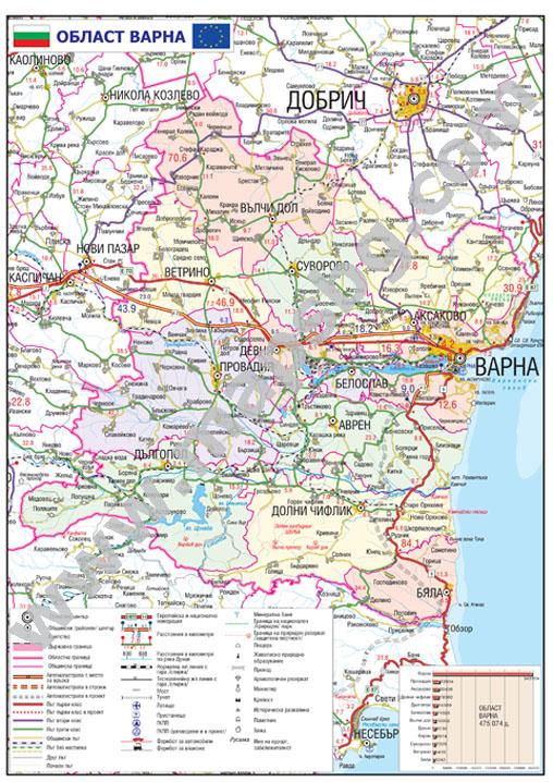Karta Na Oblast Varna Karta 2019